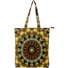 Pattern Abstract Background Art Double Zip Up Tote Bag