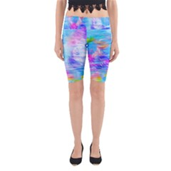 Background Drips Fluid Colorful Yoga Cropped Leggings