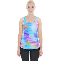 Background Drips Fluid Colorful Piece Up Tank Top