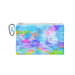 Background Drips Fluid Colorful Canvas Cosmetic Bag (small)