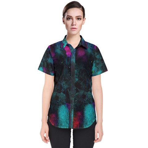Background Art Abstract Watercolor Women s Short Sleeve Shirt by Sapixe