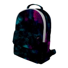 Background Art Abstract Watercolor Flap Pocket Backpack (large)