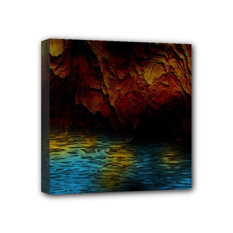 Background Cave Art Abstract Mini Canvas 4  X 4  (stretched) by Sapixe
