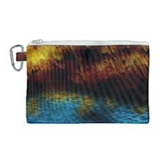 Background Cave Art Abstract Canvas Cosmetic Bag (large)