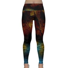Background Cave Art Abstract Lightweight Velour Classic Yoga Leggings