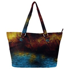 Background Cave Art Abstract Full Print Shoulder Bag by Sapixe