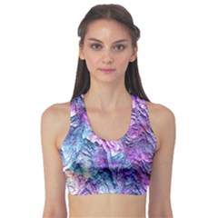 Background Peel Art Abstract Sports Bra