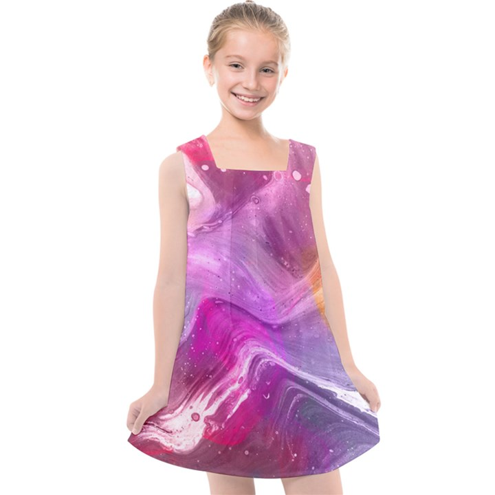 Background Art Abstract Watercolor Kids  Cross Back Dress