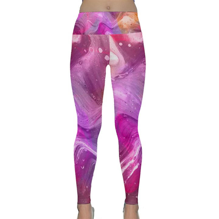 Background Art Abstract Watercolor Lightweight Velour Classic Yoga Leggings
