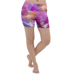 Background Art Abstract Watercolor Lightweight Velour Yoga Shorts
