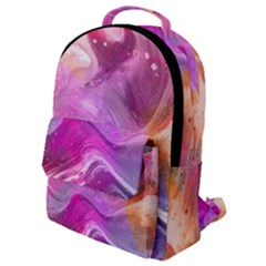 Background Art Abstract Watercolor Flap Pocket Backpack (small)