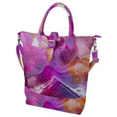 Background Art Abstract Watercolor Buckle Top Tote Bag