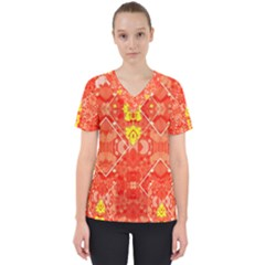 Citrus Sonata Women s V-neck Scrub Top