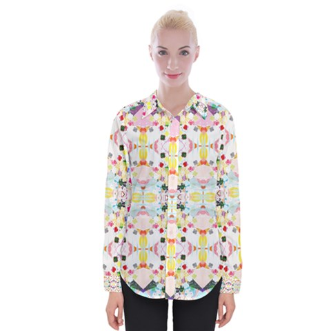 Sonata Bright Womens Long Sleeve Shirt by Tiffied
