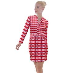 Contemplaid19 Button Long Sleeve Dress