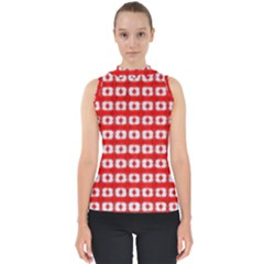 Contemplaid19 Mock Neck Shell Top