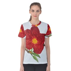 Deep Plumb Blossom Women s Cotton Tee by lwdstudio