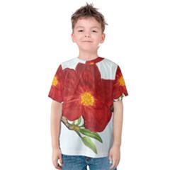Deep Plumb Blossom Kids  Cotton Tee by lwdstudio