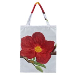 Deep Plumb Blossom Classic Tote Bag by lwdstudio