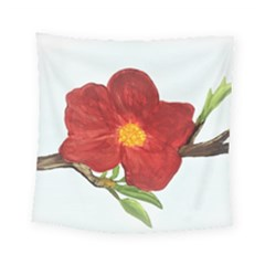 Deep Plumb Blossom Square Tapestry (small)