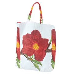 Deep Plumb Blossom Giant Grocery Tote