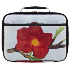 Deep Plumb Blossom Full Print Lunch Bag