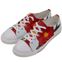 Deep Plumb Blossom Women s Low Top Canvas Sneakers by lwdstudio