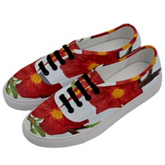 Deep Plumb Blossom Men s Classic Low Top Sneakers by lwdstudio
