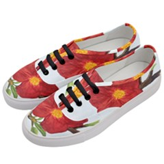 Deep Plumb Blossom Women s Classic Low Top Sneakers by lwdstudio