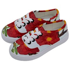 Deep Plumb Blossom Kids  Classic Low Top Sneakers by lwdstudio