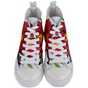Deep Plumb Blossom Women s Mid-Top Canvas Sneakers View1