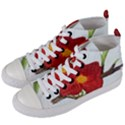 Deep Plumb Blossom Women s Mid-Top Canvas Sneakers View2