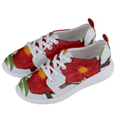 Deep Plumb Blossom Women s Lightweight Sports Shoes by lwdstudio