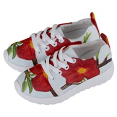 Deep Plumb Blossom Kids  Lightweight Sports Shoes by lwdstudio