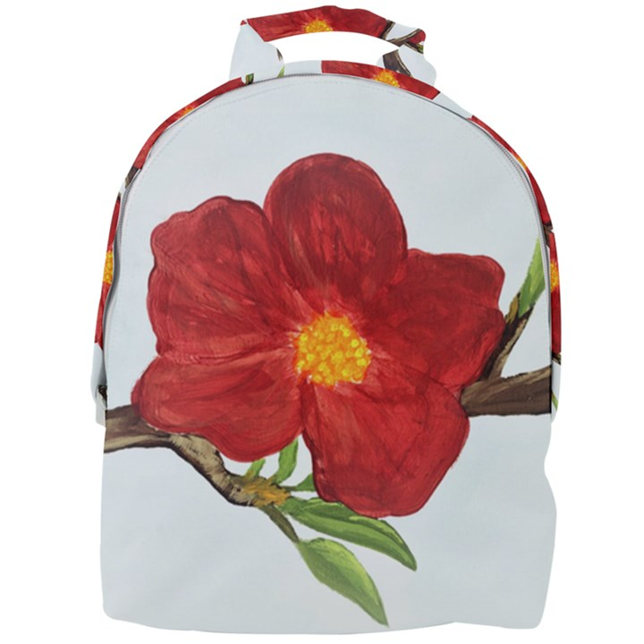 Deep Plumb Blossom Mini Full Print Backpack