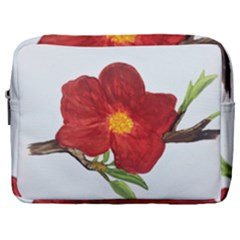 Deep Plumb Blossom Make Up Pouch (large)