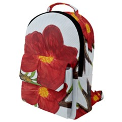 Deep Plumb Blossom Flap Pocket Backpack (small)