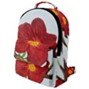 Deep Plumb Blossom Flap Pocket Backpack (Small) View1
