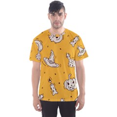 Funny Halloween Party Pattern Men s Sports Mesh Tee