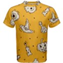 Funny Halloween Party Pattern Men s Cotton Tee View1