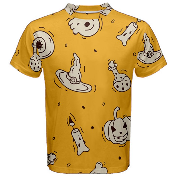 Funny Halloween Party Pattern Men s Cotton Tee