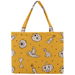 Funny Halloween Party Pattern Mini Tote Bag