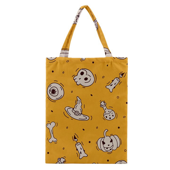 Funny Halloween Party Pattern Classic Tote Bag