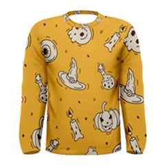 Funny Halloween Party Pattern Men s Long Sleeve Tee
