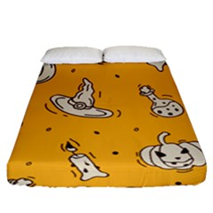 Funny Halloween Party Pattern Fitted Sheet (queen Size)