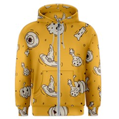 Funny Halloween Party Pattern Men s Zipper Hoodie
