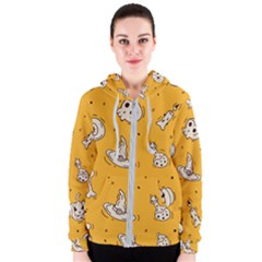 Funny Halloween Party Pattern Women s Zipper Hoodie
