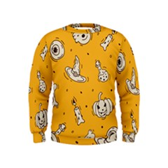 Funny Halloween Party Pattern Kids  Sweatshirt