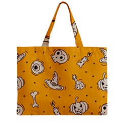 Funny Halloween Party Pattern Zipper Mini Tote Bag
