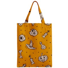 Funny Halloween Party Pattern Zipper Classic Tote Bag by HalloweenParty